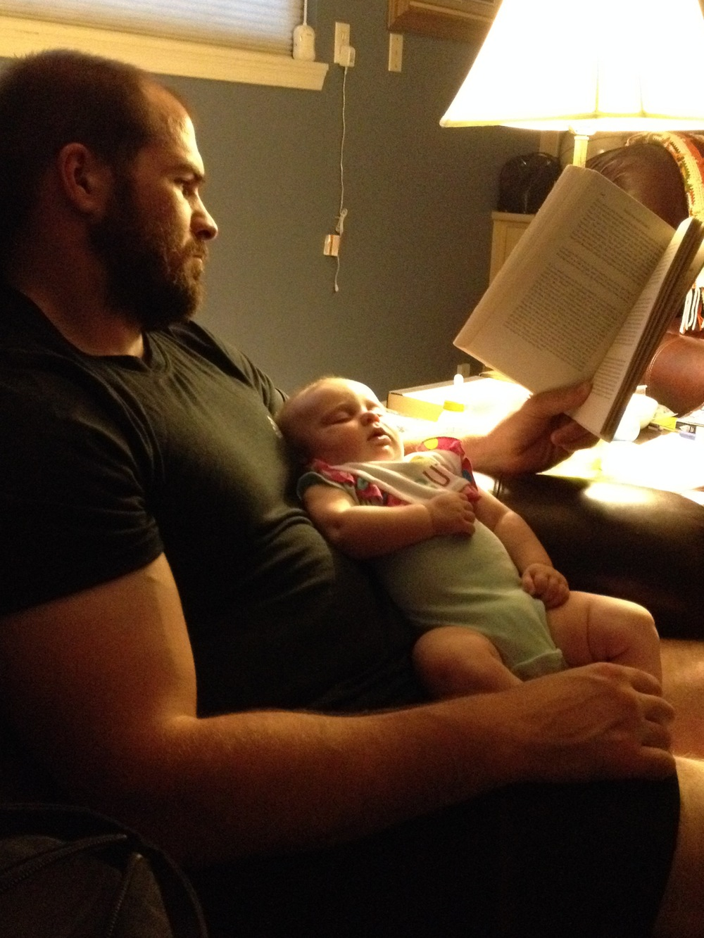 Evie likes reading, but Traherne puts her to sleep.