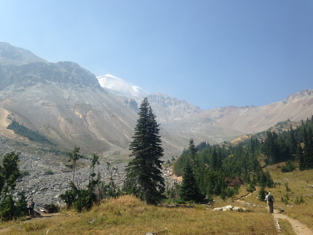 View from Glacier Basin, the end of the maintained trail.