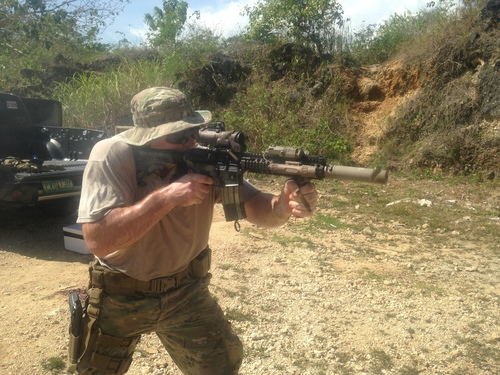 Ryan training in the Philippines, 2014.