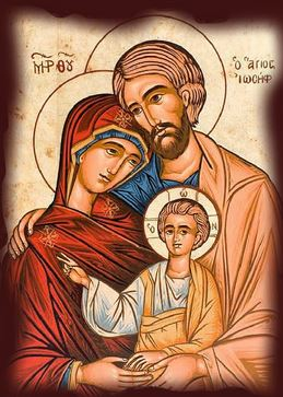 St. Joseph, Mary and Jesus, pray for families.