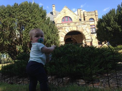 Evie visiting Maymont, VA in 2015.