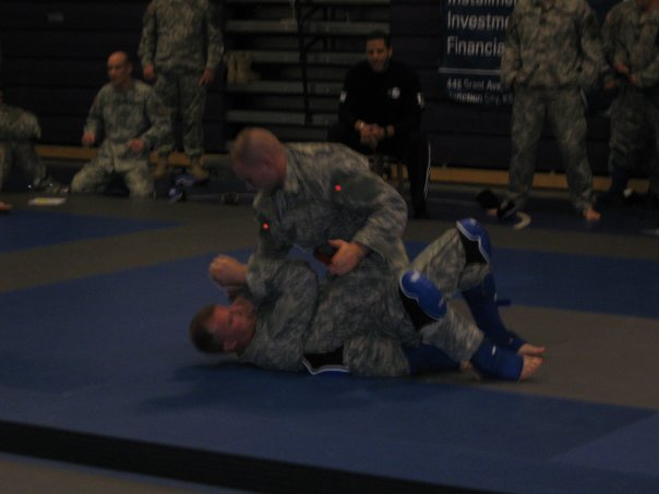Second heat of the 2008 combatives tournament, winning my Pankrates fight by TKO.